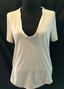 J-Crew-Marled-Honey-Brown-Short-Sleeve-U-Neck-Tee-Size-Small