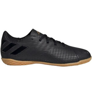 adidas-Kids-Nemeziz-19-4-Indoor-Soccer-Shoes-Core-Black-Utility-Black-EG3314