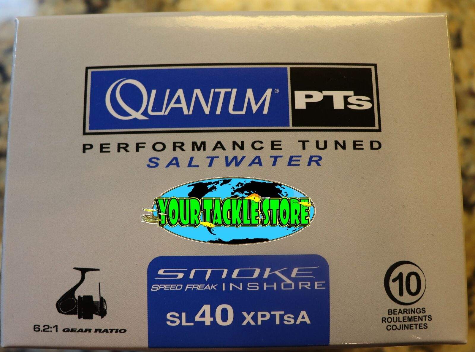 Quantum SL40XPTSA Performance Tuned Smoke Speed Freak Inshore spinning reel NIB