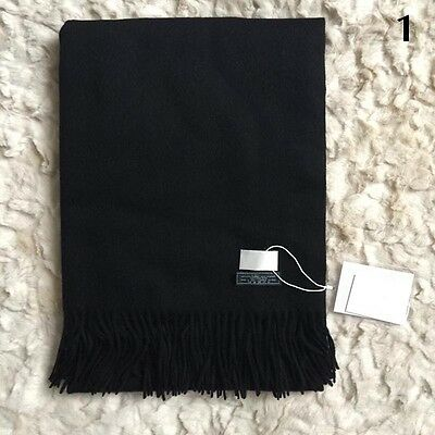 2016Fashion Women Winter Cashmere Blend Pashmina Solid Tassel Shawl Wrap Scarves