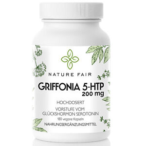 Griffonia-200mg-pro-Kapsel-aus-100-5-Hydroxytryptophan-5-HTP-Serotonin