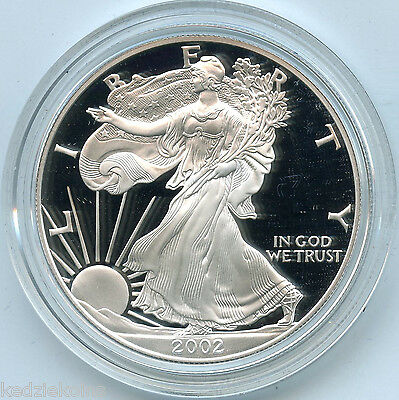 2002 W Silver Proof American Eagle Dollar $1 Coin US Mint 1oz Bullion