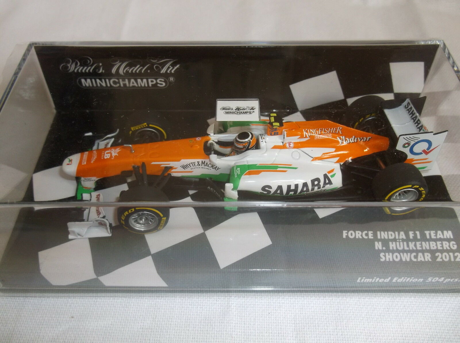 BRAND NEW MINICHAMPS 1 43  N. Hulkenberg  Force India F1 Tea   Showcar 2012