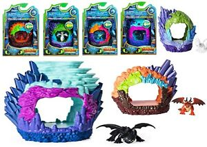 How to Train your Dragon Hidden World Lair Ages 4+ Toy Toothless Lightfury Play