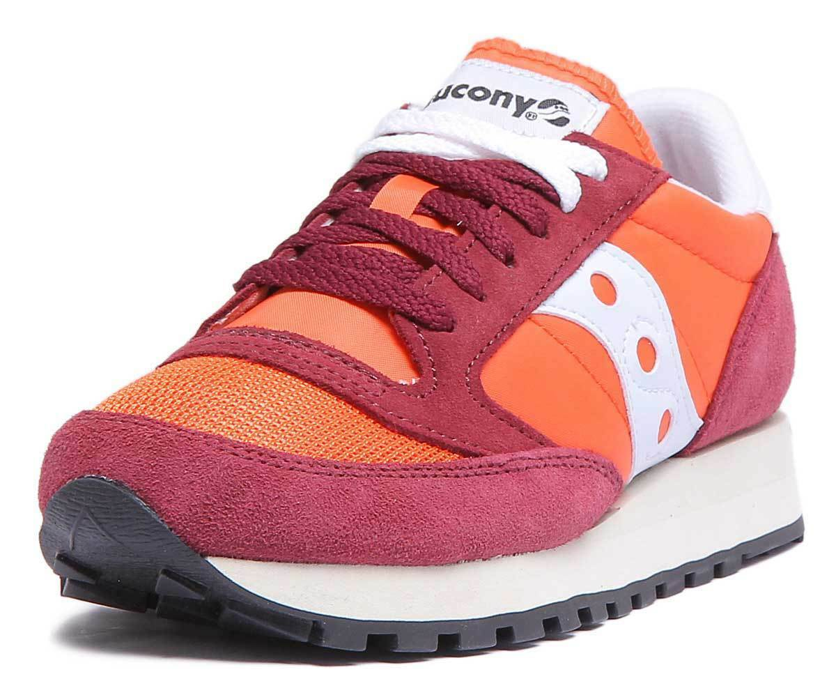Saucony Jazz Original Womens Womens Womens Burgundy Suede Mesh Trainers UK Size 3 - 8 2af9af