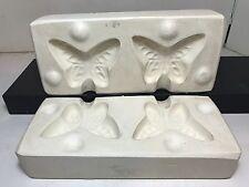 "VTG Ceramic slip casting mold UNBRANDED Butterfly Butterflies 3"" x 2.5"" Bead?"
