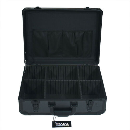19in Aluminum Hard Case Toolbox Briefcase with Removable Adjustable Dividers