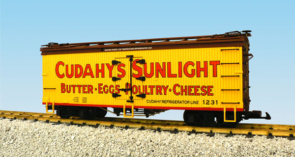 Garanzia del prezzo al 100% USA i treni G Scale R16356 CUDAHY SUNLIGHT - - - gituttio Marroneee  Reefer  disegni esclusivi
