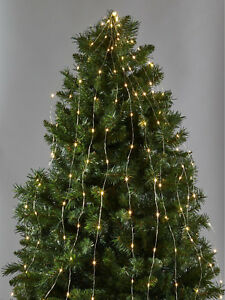 Led Christmas Tree Lights.Details About 240 Warm White Wire Waterfall Led Christmas Tree Lights
