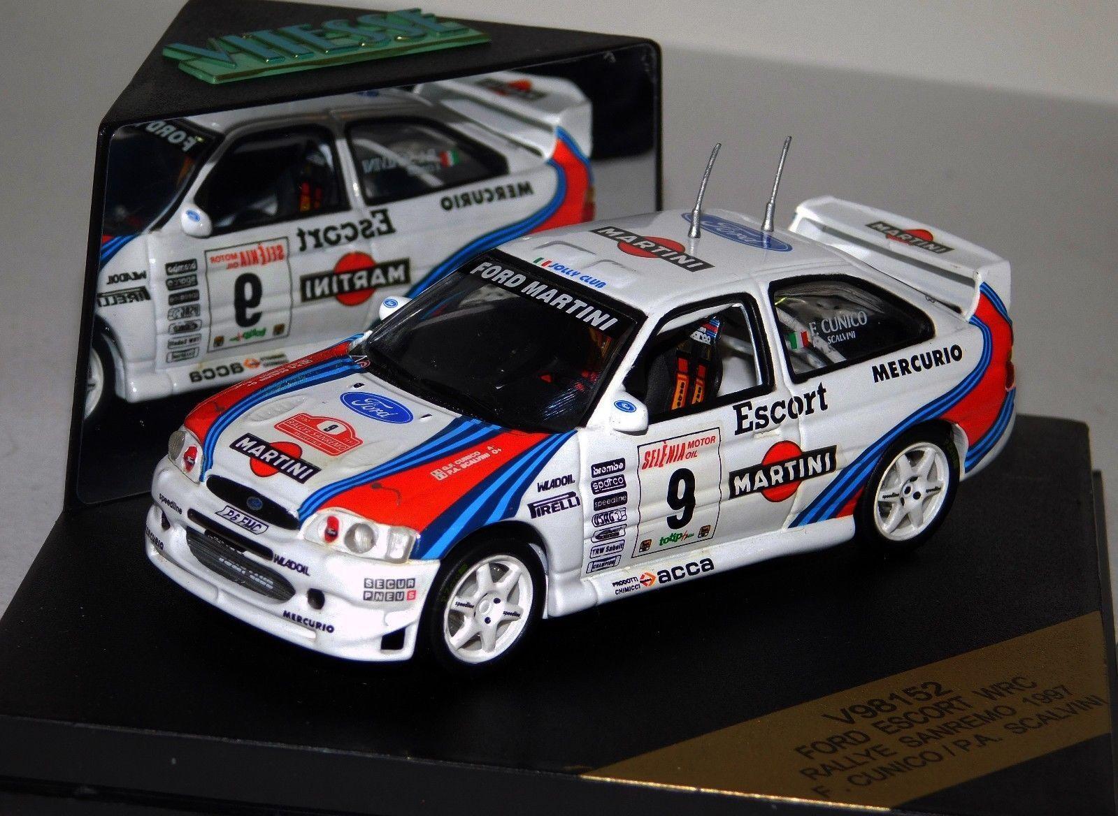 Ford Escort WRC  9 Martini San Remo 1997 Cunico Vitesse V98152 1 43