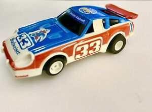 Vintage Aurora Afx Tyco Slot Car Body N Chassis Budweiser 33 Stock Car Ho Scale