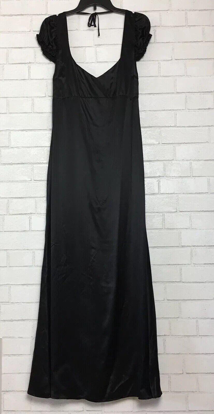 Reformation 100% soie noir robe longue taille 2 dos nu à hommecherons B1