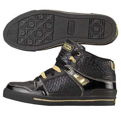 Gotta Flurt Ladies Black and Gold Hip Hop High Top Sneaker - HIPHOP2