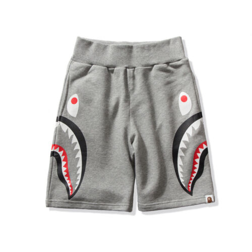 BAPE Casual Camo Men A Bathing Ape Shark Head Luminous Cotton Shorts Short Pants
