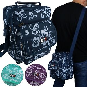 X-Rouge-Homme-Womans-Funky-Hibiscus-Canvas-Cross-Body-Utility-Bag-Surf-Beach-Voyage