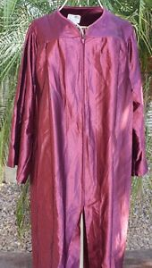 Cardinal Maroon Shiny Graduation Gown Costume Choir Robe Adult and ...