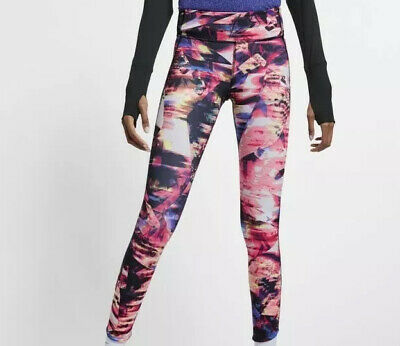 SIZE NIKE EPIC LUX PRINTED WOMEN/'S RUNNING TIGHTS AJ4143 405 S-M