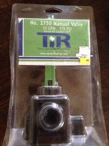 TIR No. 2750 Manual Valve 10gpm 175psi NEW