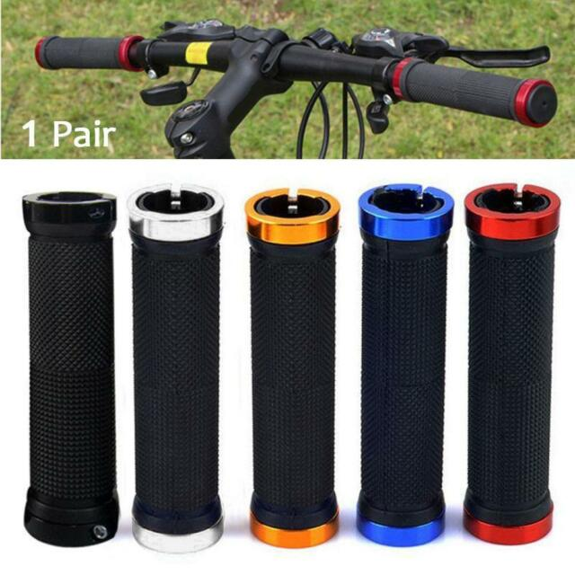 1 Pair Double Lock-on Mountains Bike Bicycle Cycling Handle Bar Cyclist Grips@PK