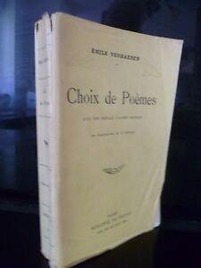 Emile Verhaeren Elegir con Poema Peluche Mercure París 1916 / Front. IN 12 Be