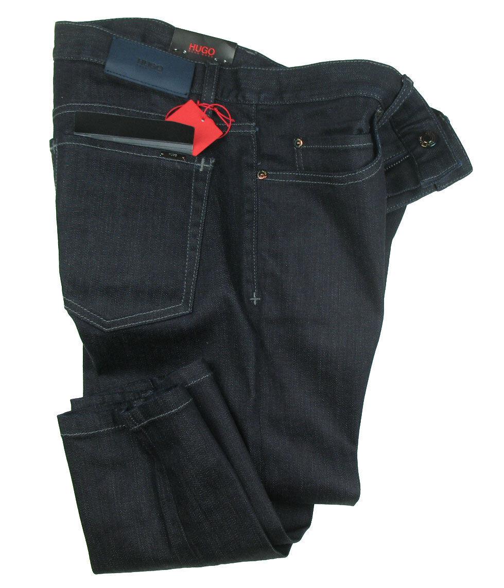 BOSS HUGO Jeans 100 in 33 34 ( Super Skinny ) dark Blau STRETCH