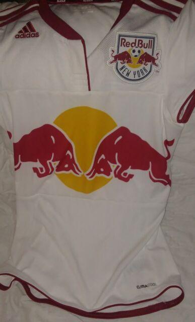 92134ab1ade Adidas New York Red Bulls Soccer Jersey NY MLS Short SleeveTop Sz S Red Bull