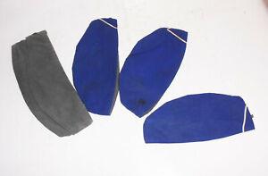 4-DDR-Rot-Kreuz-Schiffchen-blau-grau-Grose-50-bis-55-Vintage-DRK-NVA