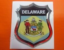3D Emblem Sticker Resin Domed Flag Delaware - USA Adhesive Decal Vinyl