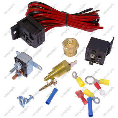 sbc thermostat wiring electric fan wiring install kit complete thermostat 50 amp relay  electric fan wiring install kit