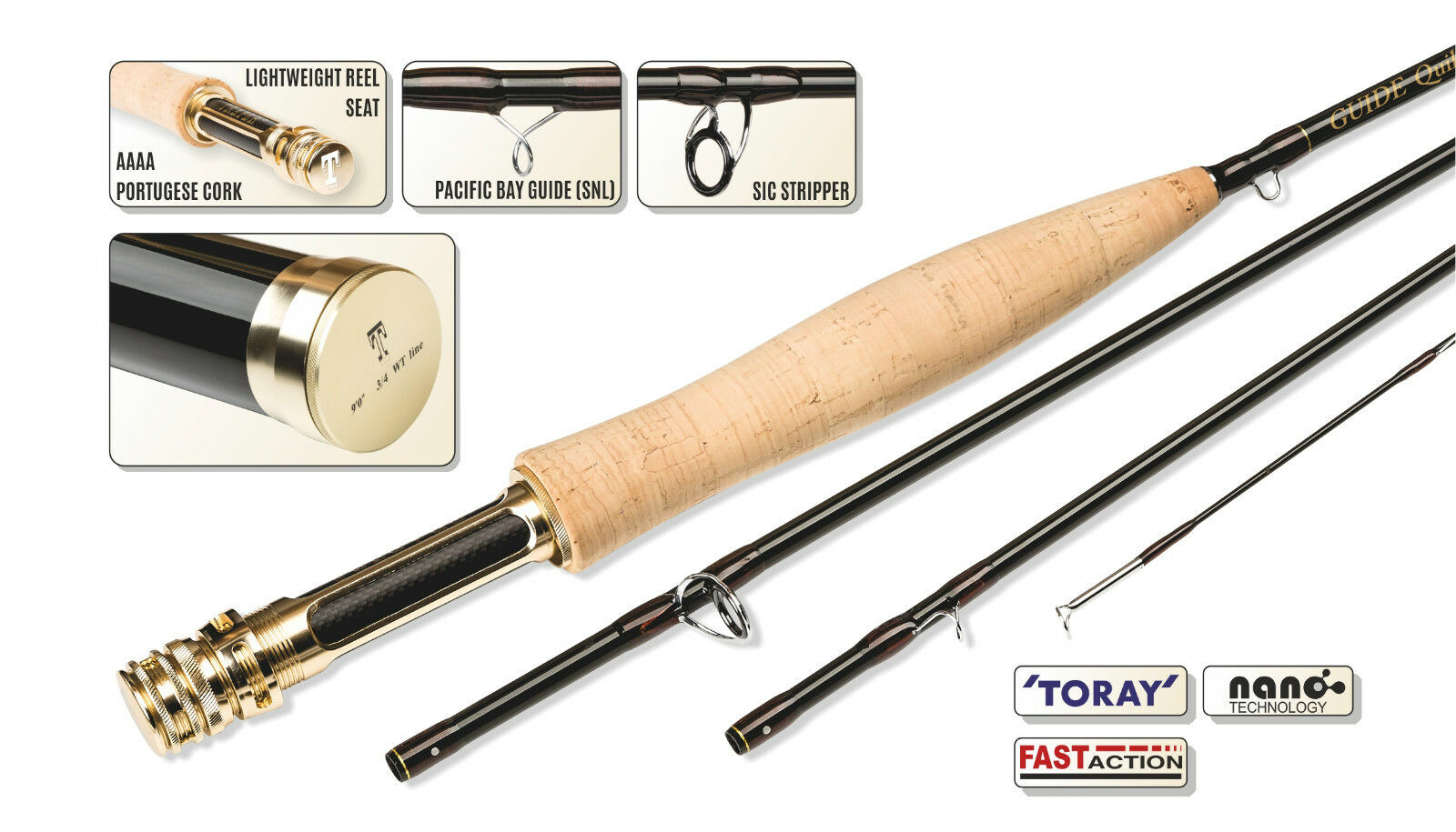Traper Guide Nymph SF Competition Fly Rod 10ft  305cm-AFTM 4 pcs, 25y warranty  select from the newest brands like