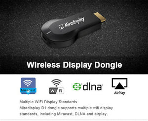 Mirascreen 1080p WiFi HDMI TV Dongle Receiver Airplay DLNA