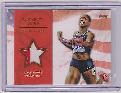 Olympics Cards Frugal 2012 Topps Olympic Carmelita Jeter 2 Color Bronze Relic Card ~ /75 ~ Track Field