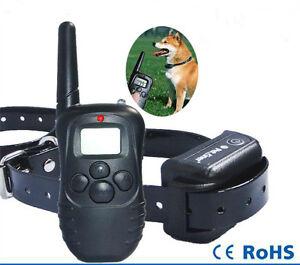 Collier de Dressage Electrique pour Chien Etanche Rechargeable Portee 300 Metre