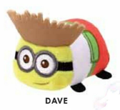 """TY Beanie Babies Teeny Despicable Me Dave stackable 3/"""" Plush NEW w// Heart Tag"""