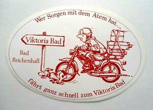 Souvenir-Aufkleber Bad Reichenhall Victoria Bad Oberbayern Berchtesgaden 80er
