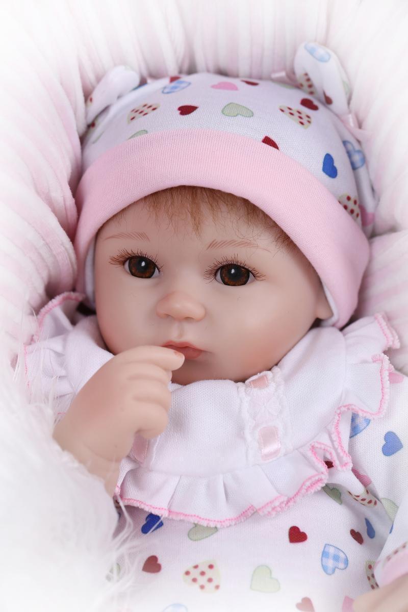 17  realista Reborn Bebé Niñas Muñeca Juguete Regalo de vinilo de bebé recién nacido bebé prematuro de silicona