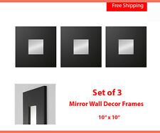 ikea modern art wall mirror malma set of 3 square black new free shipping