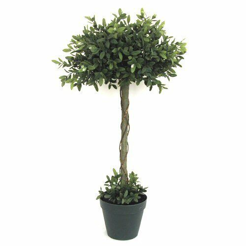 3ft Potted Artificial Verbena Topiary Tree - 90 cm Decorative Outdoor Plant