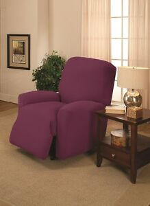 Purple Recliner Cover Also Comes In Sofa Couch Loveseat Chair Futon Slipcovers Ebay