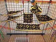 BATMAN BLACK   Sugar Glider 6 pc cage set