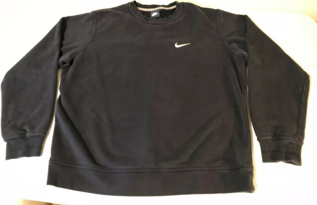 Men/'s New Nike Crew Swoosh Logo Sweatshirt Jumper Pullover Cotton Sweater Grey