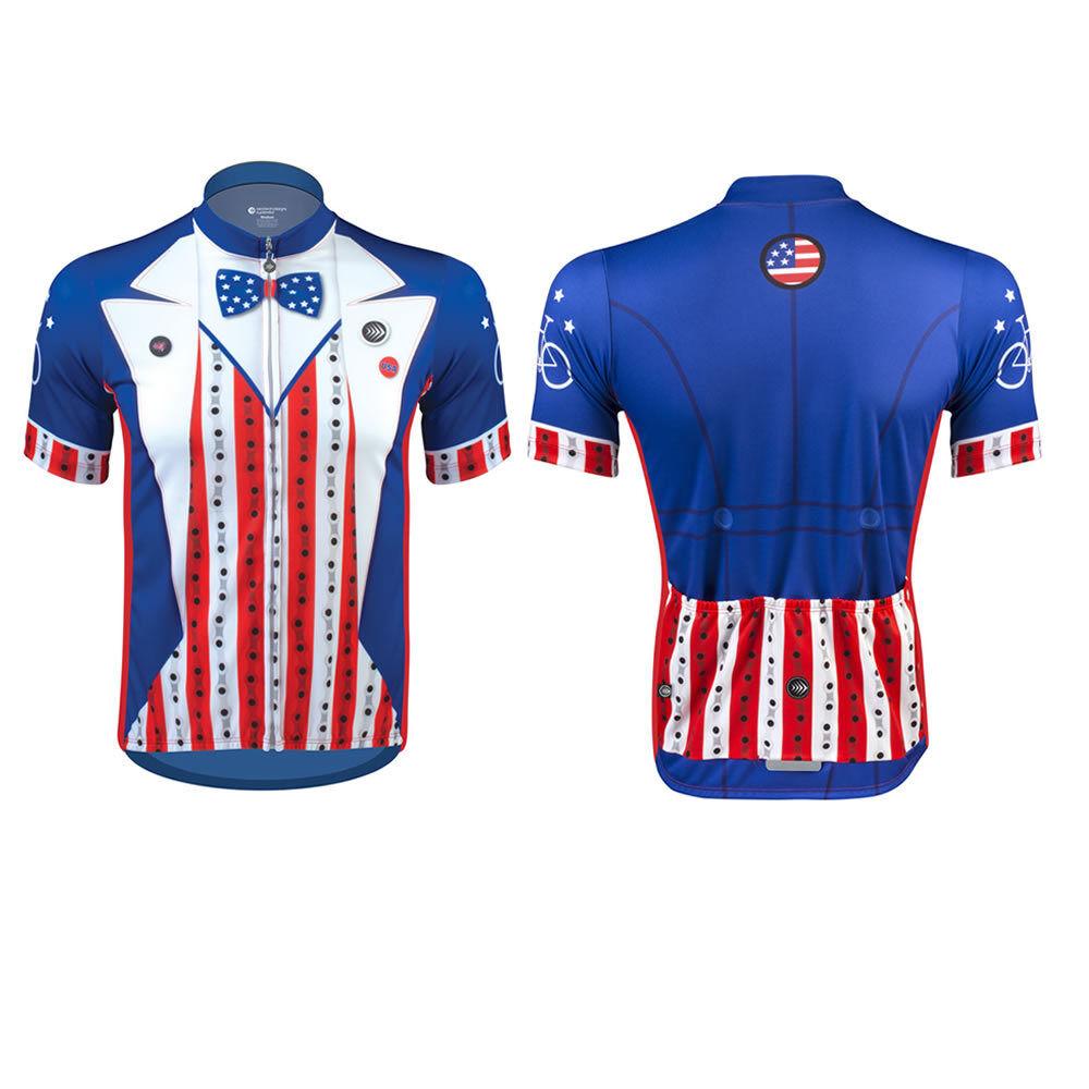 Aero Tech Designs Uncle Sam Patriotic Radfahren Fahrrad Jersey Made in USA