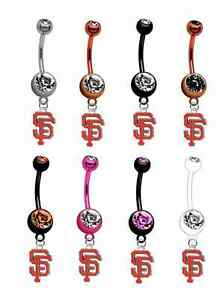 San Francisco Giants Baseball Belly Button Navel Ring