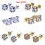 Men-Square-Round-Solitaire-Hip-Hop-Gold-Diamond-Screw-Back-Stud-Earrings-8-6-4mm thumbnail 1