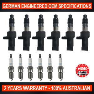6x-Genuine-NGK-Platinum-Spark-Plugs-amp-6x-Ignition-Coils-for-Jaguar-X-Type-x400
