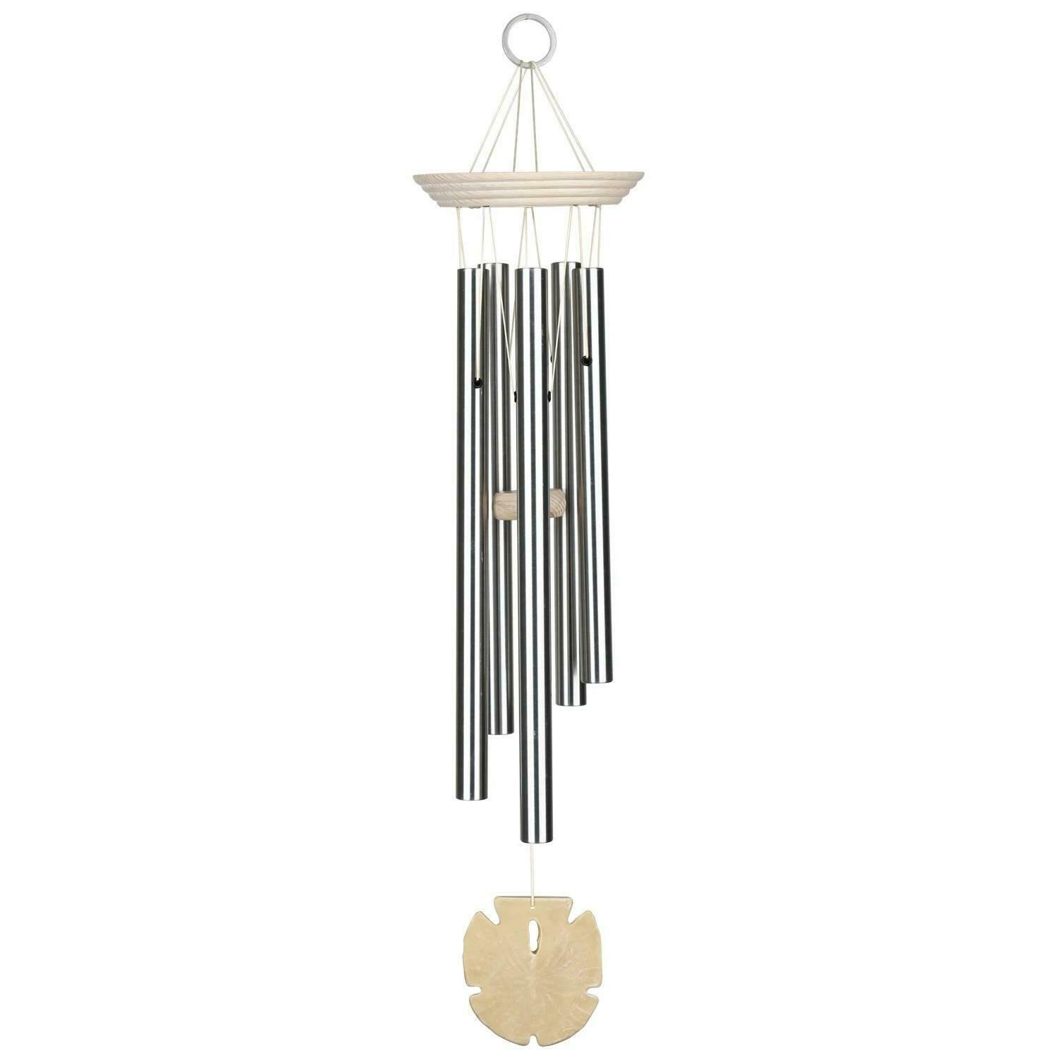 Woodstock Chimes Hanging Seashore Chime Sand Dollar Alloy Garden Wind Chime