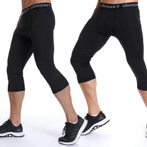 Men Compression Thermal Base Layer Tights T-Shirt Top Long Pants Activewear H37