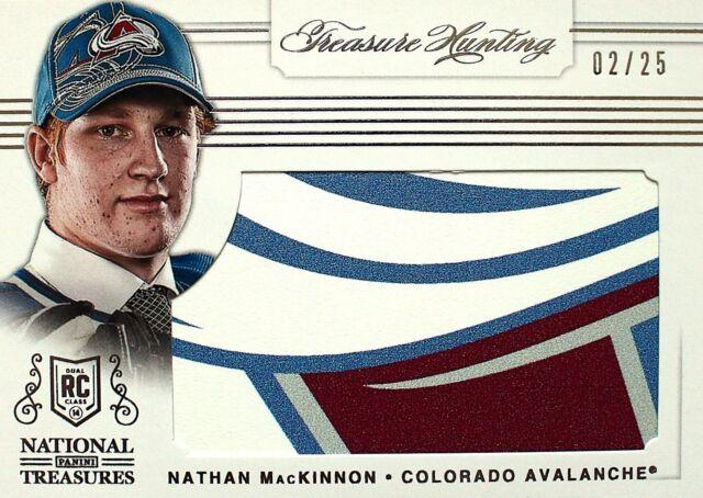 2013-14 National Treasures Nathan MacKinnon Treasure Hunting Draft Table /25