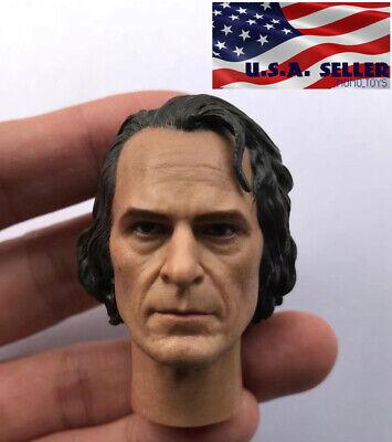 "1//6 Arthur Fleck Joker Joaquin Phoenix HEAD SCULPT FOR 12/"" Hot Toys figure ❶ USA ❶"