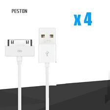 4 x USB Sync Datenkabel Ladegerät Ladegerät Adapter Schnur für iPhone 4 4S 3GS
